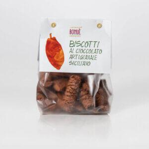 Biscotti al cioccolato artigianale siciliano Bonuè confezione 250g