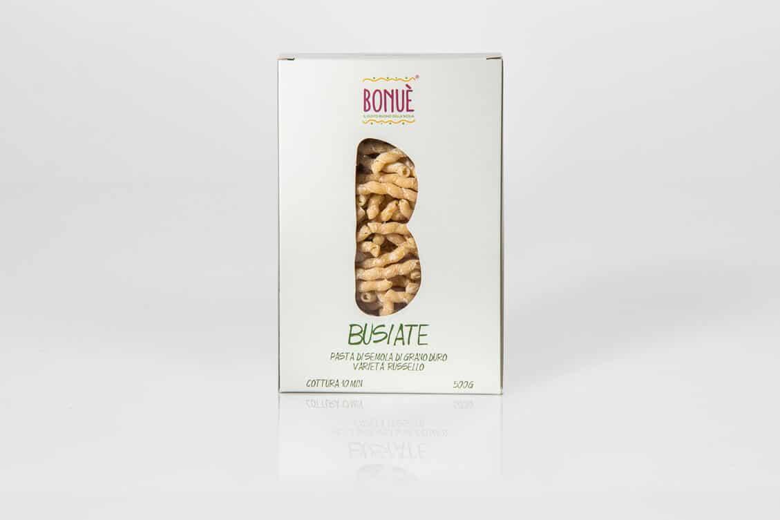 Busiate artigianali di grano Russello Bonuè confezione 500g