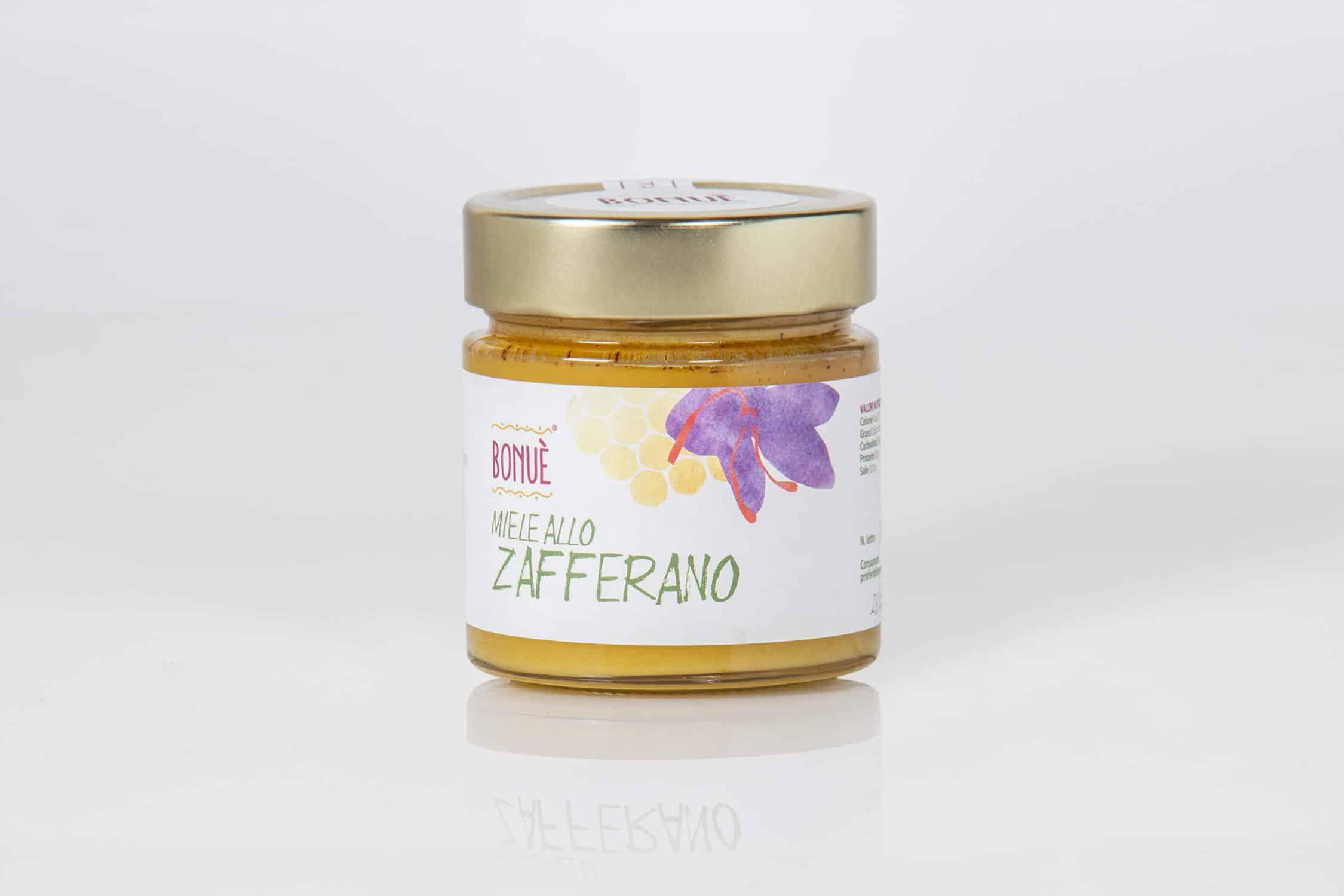 Miele allo Zafferano Bonuè vasetto 200g
