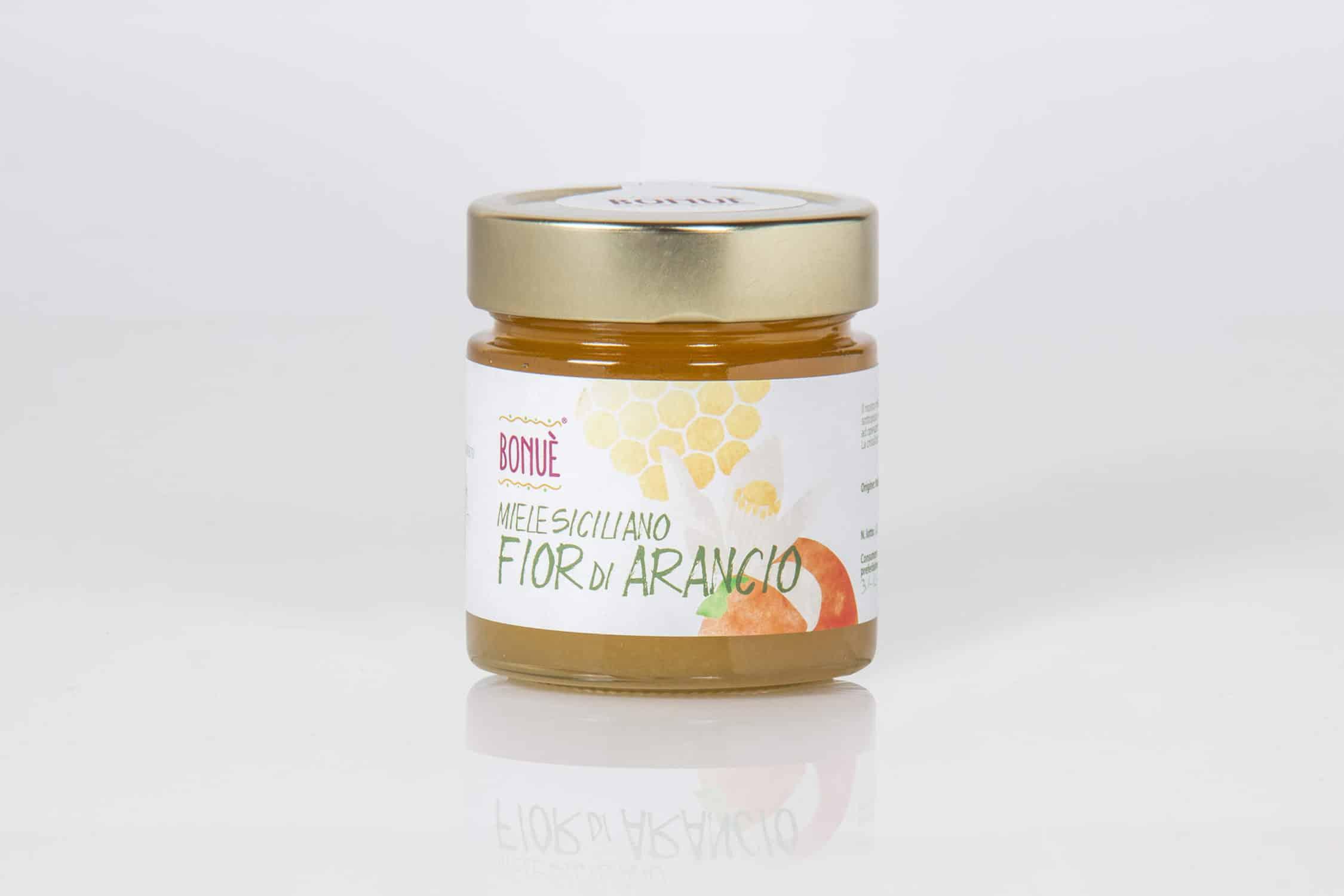 Miele siciliano Fior d'Arancio Bonuè vasetto 300g
