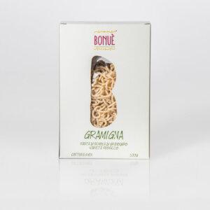 Pasta artigianale Gramigna di grano Russello Bonuè confezione 500g