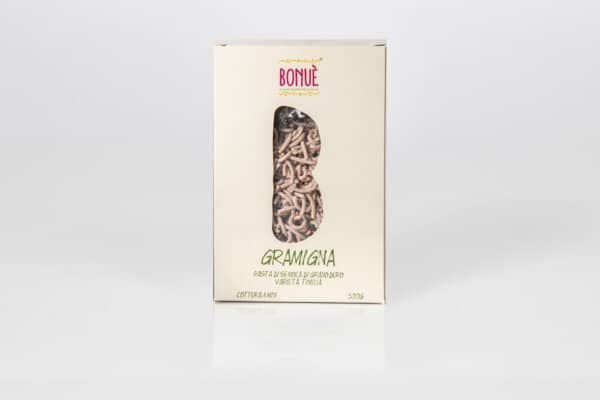 Pasta artigianale Gramigna di grano Timilia Bonuè confezione 500g