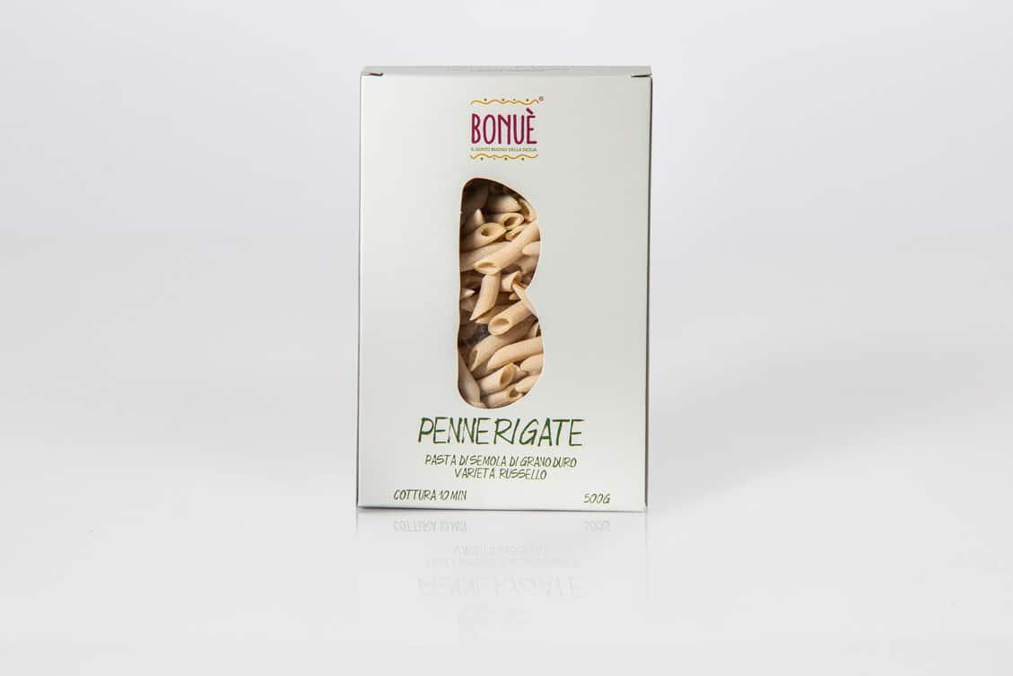 Penne rigate artigianali di grano Russello Bonuè confezione 500g