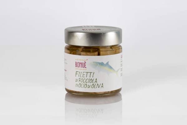 Filetti di Ricciola in olio di oliva vasetto 200g
