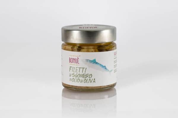 Filetti di Sgombro in olio di oliva vasetto 200g